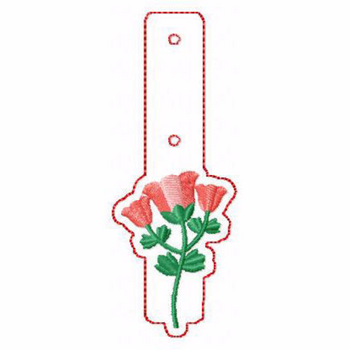 Flower Embellishments 05 Key Fobs - In The Hoop Machine Embroidery Design