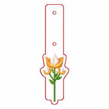 Flower Embellishments 09 Key Fobs - In The Hoop Machine Embroidery Design