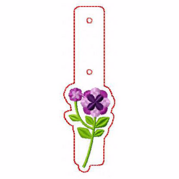 Flower Embellishments 10 Key Fobs - In The Hoop Machine Embroidery Design