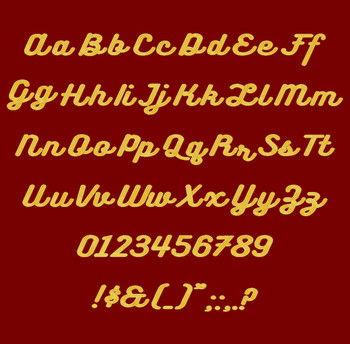 Bukhari Script Machine Embroidery Font Full Alpha