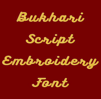 Bukhari Script Machine Embroidery Font Product Pic