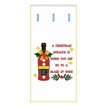 ITH Christmas Humor Wine Bag 02 - In The Hoop Machine Embroidery Design