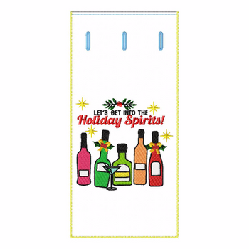 ITH Christmas Humor Wine Bag 04 - In The Hoop Machine Embroidery Design