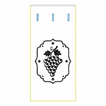 ITH Wine Bag Champagne Vine - In The Hoop Machine Embroidery DesignITH Wine Bag Grapes - In The Hoop Machine Embroidery Design