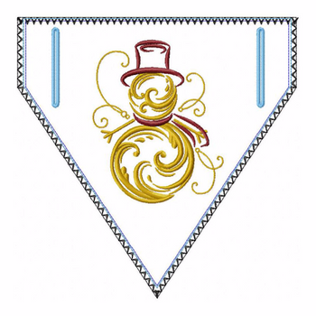 Abstract Christmas Doggie Bandana 06 - In The Hoop Machine Embroidery Design