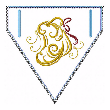 Abstract Christmas Doggie Bandana 07 - In The Hoop Machine Embroidery Design