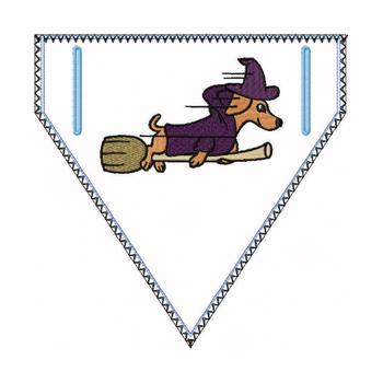 Dachshund Doggie Bandana 02 - In The Hoop Machine Embroidery Design