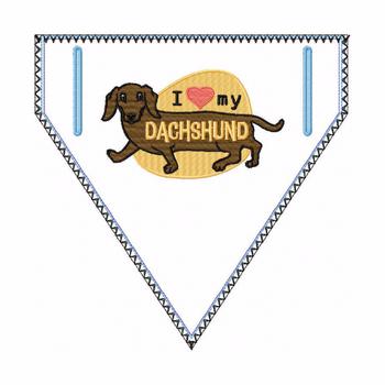 Dachshund Doggie Bandana 04 - In The Hoop Machine Embroidery Design