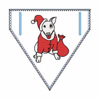 Doggie Bandana Santa Dog 01 - In The Hoop Machine Embroidery Design