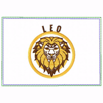 Leo Zodiac Small Money Purse - In The Hoop Machine Embroidery Design