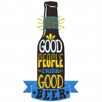 Good People Drink Good BEER - Craft Beer Hobby Collection #05 - Machine Embroidery Design