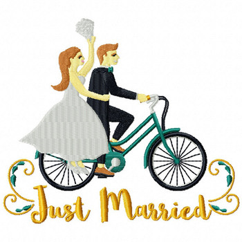 Just Married Bike - Cycling Hobby Collection #08 - Machine Embroidery Design