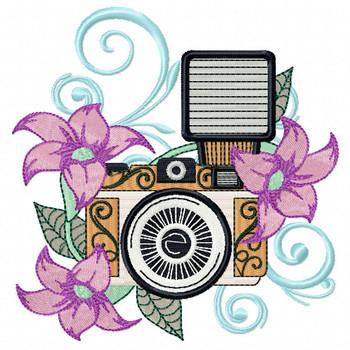 Flash Camera Machine Embroidery Design - Photography Hobby #01