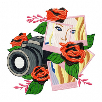 Camera Film Machine Embroidery Design - Photography Hobby #06