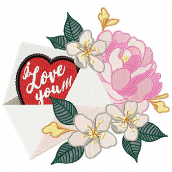 Valentine Love Letter Collection #05 - Machine Embroidery Design