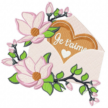 Valentine Love Letter Collection #07 - Machine Embroidery Design