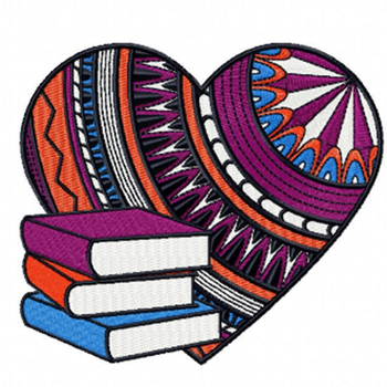 Book Lover - Love For Hobby Collection #04 Machine Embroidery Design