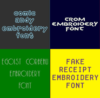 Machine Embroidery Fonts - 20 DST Font Bundle - Volume 5