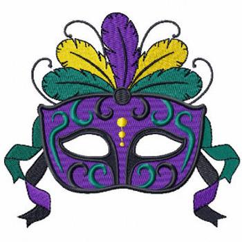 Masquerade - Mardi Gras Collection #03 Machine Embroidery Design