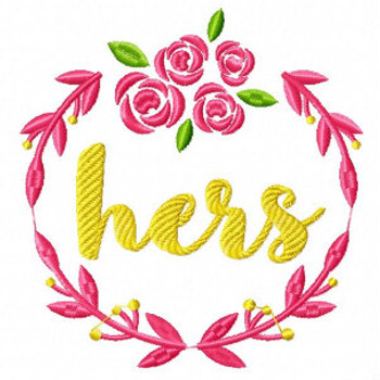 Hers Wreath - His & Hers Collection #01 Machine Embroidery Design