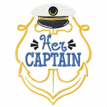Her Captain - His & Hers Collection #09 Machine Embroidery Design
