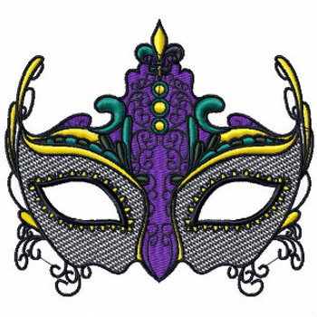 Easter Masquerade - Mardi Gras Easter Collection #01 Machine Embroidery Design
