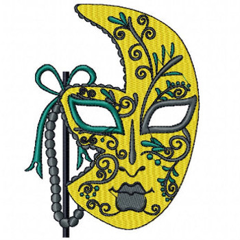 Easter Yellow Masquerade - Mardi Gras Easter Collection #03 Machine Embroidery Design