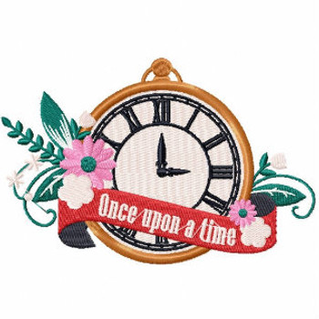 Once Upon a Time Classic Timepiece - Vintage Wedding Collection #01 Machine Embroidery Design