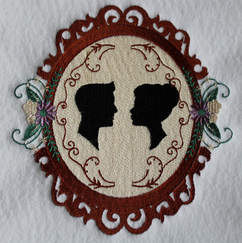 Classic Wedding Frame - Vintage Wedding Collection #02 Machine Embroidery Design