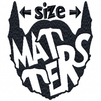 Size Matters - Beard Collection #04 Machine Embroidery Design