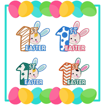 Machine Embroidery Designs - Baby's First Easter Collection of 4