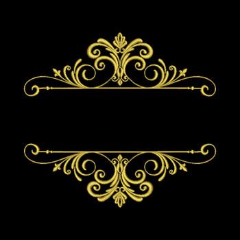 Machine Embroidery Monogram - Elegant Split Monogram #03