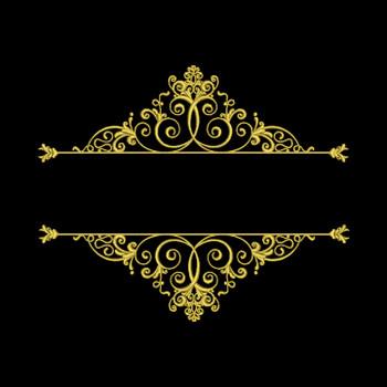Machine Embroidery Monogram - Elegant Split Monogram #04