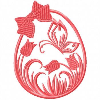 Silhouette Easter Design #02 Machine Embroidery Design
