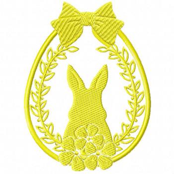 Silhouette Easter Design #03 Machine Embroidery Design