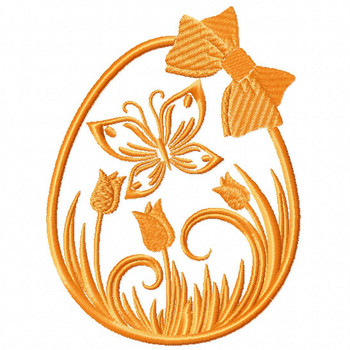 Silhouette Easter Design #06 Machine Embroidery Design