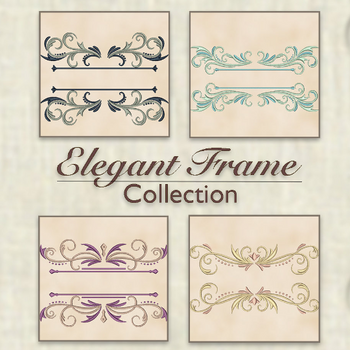 Machine Embroidery Designs - Elegant Frame Collection of 4