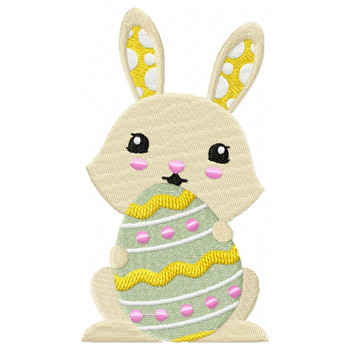 Easter Bunnies Collection #05 Machine Embroidery Design