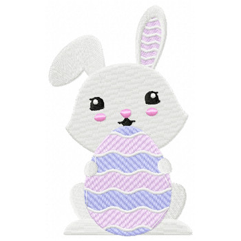 Easter Bunnies Collection #06 Machine Embroidery Design