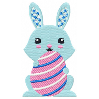 Easter Bunnies Collection #07 Machine Embroidery Design