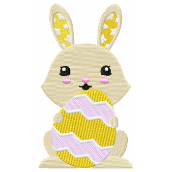 Easter Bunnies Collection #08 Machine Embroidery Design