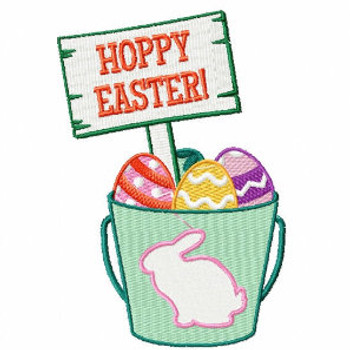 Hoppy Easter Egg Basket  - Easter Egg Collection #03 Machine Embroidery Design