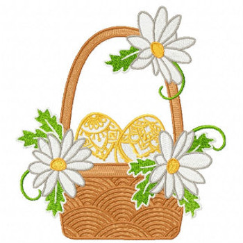 Easter Golden Eggs in the Basket - Easter Egg Collection #06 Machine Embroidery Design