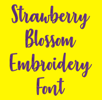 Machine Embroidery Font - Strawberry Blossom Font