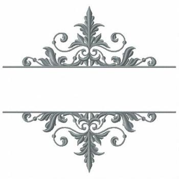 Machine Embroidery Monogram - Elegant Monogram #01