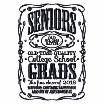 Senior Graduation Collection #08 Machine Embroidery Design