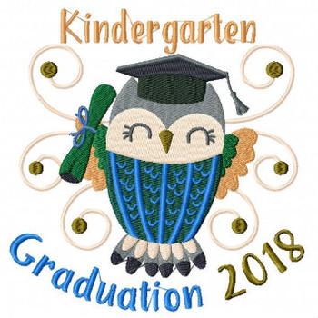 Owl Kindergarten Typography Collection #02 Machine Embroidery Design