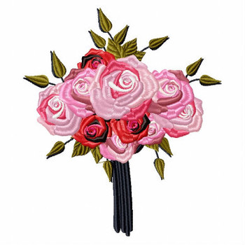 Nosegay Wedding Bouquet Collection #01 Machine Embroidery Design