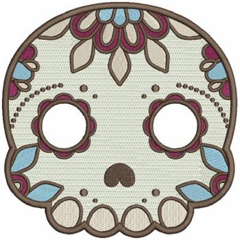 Sugar Skull Collection #07 Machine Embroidery Design