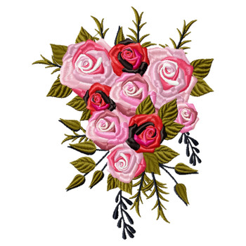 Cascade Bouquet Wedding Bouquet Collection #04 Machine Embroidery Design